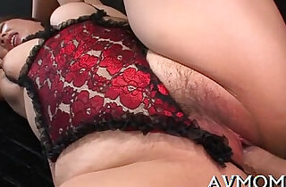 Hot unshaved milf in lingerie xxx tube video