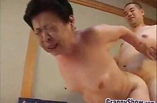 Japanese Grandma Giving Great Blowjob xxx tube video