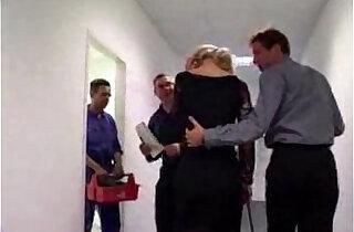 German Secretary forced to blow boss xxx tube video