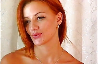 Hot sexy redhead fingering herself xxx tube video