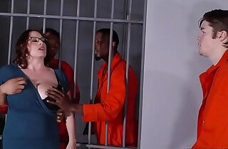 Busty Mom Maggie Green Takes Two BBCs in a Jail xxx tube video