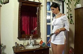 Eve Angel in Short White Dress Masterbates xxx tube video