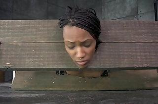 Bound black sub in yoke toyed as punishment xxx tube video