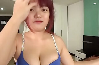 I grabbed her boobs. Creampied. Sperm flowed out. xxx tube video