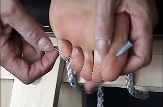 Extreme foot fetish and feet needle bdsm of mature amateur girl in harsh m xxx tube video