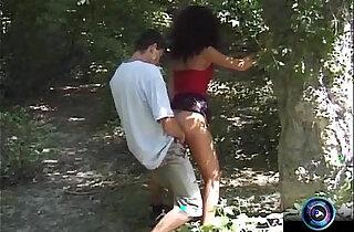Adventurous couple Eva and Geza doing it at public xxx tube video
