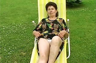 Granny Marie gets fingered and fucked hard by the pool xxx tube video