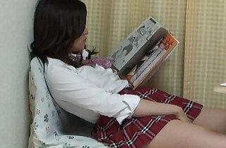 Aki Kawana Masturbation reading a naughty book xxx tube video