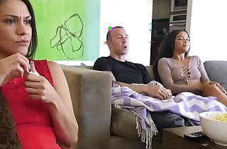 Step Bro Fucking Sister During Movie With Mom xxx tube video