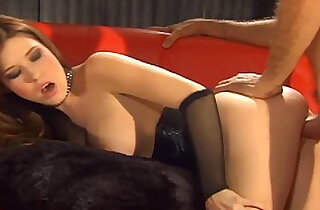 Sex in black lingerie and a shiny corset xxx tube video
