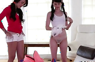 Super Sexy Teens Natalie Heart and Heather Night in Threesome xxx tube video
