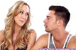 MomsTeachSex Hot Yoga Mom Fucks Son And Teen GF xxx tube video