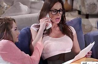 Hot Kimmy sucks her moms pussy and gigantic titties xxx tube video