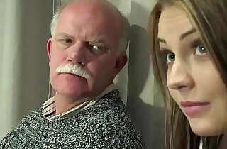 Old Young Porn Teen Gangbang by Grandpas pussy fucking fingering gagging xxx tube video