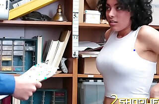 Busty thief punished with fat boner xxx tube video