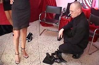 Celia Jones threesome in the shoe shop with J.B. xxx tube video