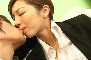 Asahi Miura Asian gives amazing headfucking in the break room xxx tube video