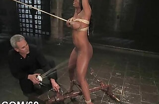 Hot pretty girl fucked and dominated in bondage xxx tube video