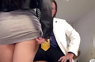 BUMS BUERO German brunette babe Lullu Gun gets anal banged by boss in the office xxx tube video