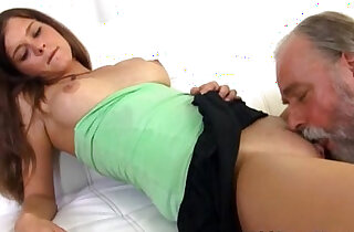 Old Goes Young sitting on the lap of older man xxx tube video