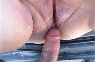 Hot pregnant mom gets fuck in car and creampie inside xxx tube video