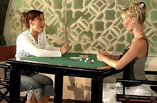 Geena and Britta play poker and then with toys on Sapphic Erotica xxx tube video