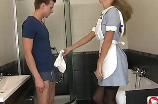 Horny young blonde nurse seduces her patient and let him fuck her ass xxx tube video