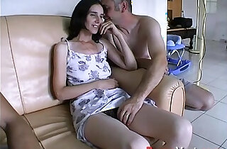 Taken by surprise, she squirts all over the couch! French amateur xxx tube video