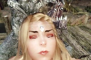 Sexy priestess captured, dominated, and gangbanged by monsters Skyrim 3d hentai xxx tube video