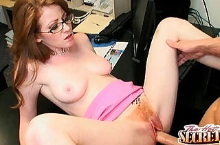 Sexy redhead Nikki Rhodes is an expert with huge black cock xxx tube video