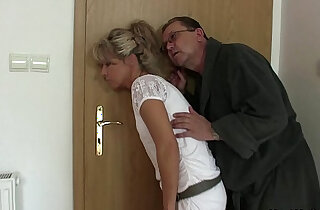 His old parents tricks her into threesome xxx tube video