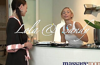 Massage Rooms Blonde teen masseuse given strong orgasm by lesbian client xxx tube video