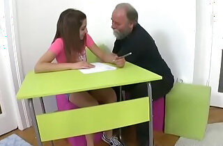 Tricky Old Teacher Ulia is a sexy student who is having school trouble xxx tube video