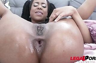 Exotic girl Kira Noir, First DAP Special ASS training with Anna De Vil xxx tube video