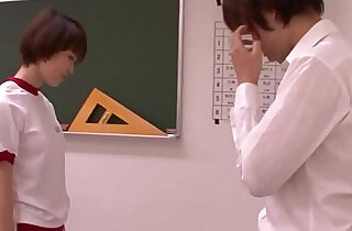 Young oriental schoolgirl blowing teacher xxx tube video