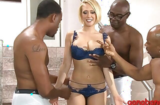 Big juggs blond ho analed by black dicks xxx tube video