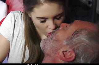 Young Russian Girl loves to Suck The Bone of an Old Grandpa xxx tube video