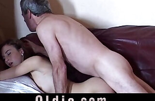 Caught wanking grandpa gets real fuck from this girl xxx tube video