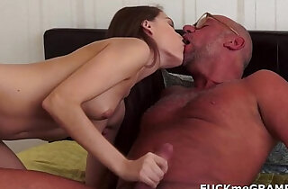 Horny grandpa and his younger girlfriend xxx tube video