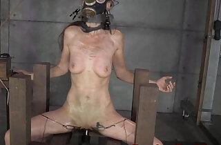 Bondage slave Emma Haize spanked roughly xxx tube video