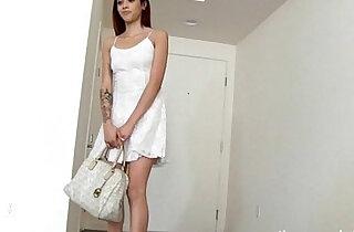 Skinny tattooed girl sucks giant black huge cock xxx tube video