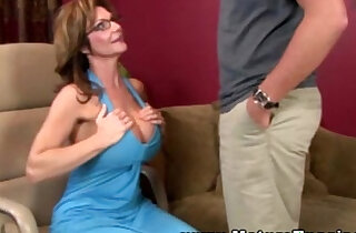 Mature busty handjob milf tugging on cock xxx tube video