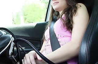 Hitch hiking brunette flashes small tits xxx tube video