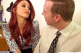 Redhead babe Monique Alexander fuck in office xxx tube video