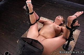Very hot busty amateur blonde toyed in bondage xxx tube video