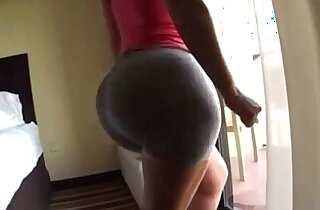 Big ass milf shows off in tight gray spandex shorts xxx tube video