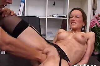 Horny brunette milf fisted ass fucked and jizzed in her face xxx tube video