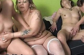 Four horny women having xxx tube video