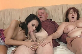 Old parents fuck her as he leaves xxx porn