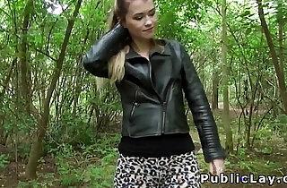 Pretty blonde babe fucks till facial outdoor xxx tube video